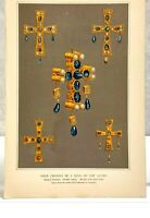 Antique Print-CROSS-TREASURE OF GUARRAZAR-KING-GOTHS-SPAIN-Lacroix-1874
