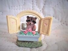 "1990 Tender Touches Hallmark Raccoon ""Hope Everything's Coming Up Roses"" Figure"