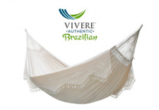 Vivere Double Deluxe Coton Hamac Pour 2 Personnes Type Brésilien Avec Haltegur