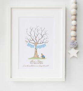 Peter Rabbit Fingerprint Tree Baby Shower, Christening, etc Print UNFRAMED