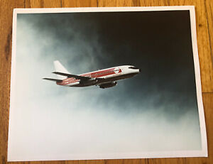Vintage Photograph Sales Ad Airplane Quebecair Airline Boeing plane Canada