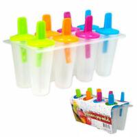 8 Freezer Ice Pop Maker Mold Popsicle Dessert Ice Cream Frozen Pops Cake Treats