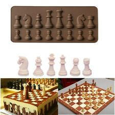 Silicone International chess Fondant Cake Mold Gum Paste Bakery Decorating Tool