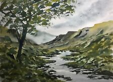 Original Painting (15x11 inches) by Bill Lupton  - Stream in the Valley