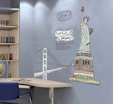 USA STATUE OF LIBERTY REMOVABLE WALL STICKER VINYL DECAL MURAL HOME ROOM DECOR