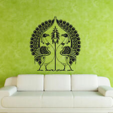 Wall Decal Peacock Bird Couple Tail Feather Beauty bedroom M215