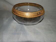 Vintage,1940's, Cambridge Glass, Gold,Floral Border, Cupped, Serving Bowl