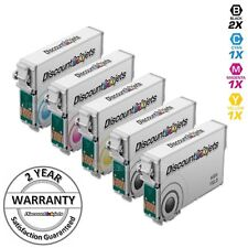 5pk T126 126 T126120 Black & Color Printer Ink Cartridge for Epson WorkForce 845