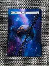 Crucible of Worlds MTG Magic Hand Painted Altered Borderless Extended Art <(((-<