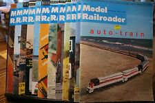 12 VINTAGE MODEL RAILROADER,TRAIN,MAGAZINES, 1974, RAILROAD,LOCOMOTIVE, YEAR
