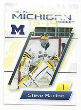 2013-14 Michigan Wolverines Steve Racine (goalie) Atlanta Gladiators
