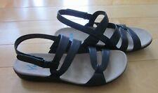 New Yuu Womens Black Strappy Sandals Janne 8.5