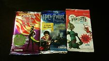 4x sealed Movie Trading Card packs Harry Potter Robots X-Files Charlie Chocolate