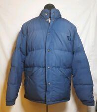 Vtg 80s GERRY USA Blue Goose Down Puffer Coat Jacket - Vintage Large No Hood