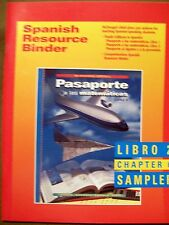 McDougal Littell Pasaporte Spanish Resource Binder (Libro 2 Chapter 6 Sampler)