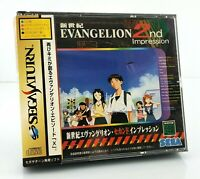 Evangelion 2nd Impression - Jeu Sega Saturn JAP Japan complet spin card