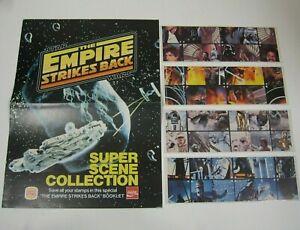 POSTER & album Star Wars set MINT1980 Empire Strikes Back Burger King Boba Fett