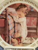 Christmas Blessins1991Keepsake Plate Fine Porcelain American Greetings Corp