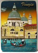 Fridge magnet Venice Gondolier 2,italian gift/souvenir 3D design / Night
