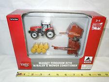 Massey Ferguson 8270 With Hesston 565A Round Baler & 1340 Mower Conditioner Set