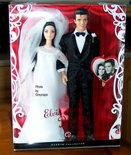 Elvis and Priscilla Barbie Dolls Wedding Doll Giftset from 2008 Mattel