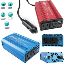 Power Inverter 350 Watts DC to Ac Outlets w/ Dual USB Port Car Charger Adapter