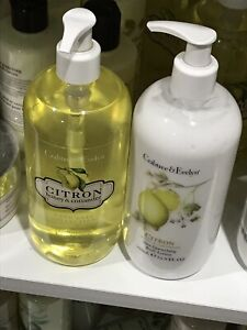 SET OF TWO NEW CRABTREE & EVELYN CITRON CONDITIONING HAND WASH & LOTION