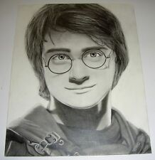 HARRY POTTER DANIEL RADCLIFFE ORIGINAL PENCIL ARTWORK DRAWING ART FANTASY MAGIC
