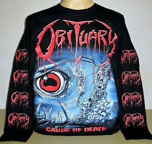 Obituary Cause Of Death Long Sleeve T-Shirt Size S M L XL 2XL 3XL Metal Band New