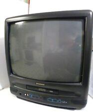 "Sylvania 3919LC 19"" CRT TV/VCR/GAMING Television Combo no Remote"