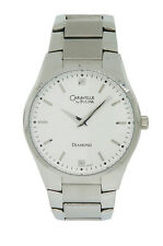 Caravelle by Bulova Diamond 43D105 Men's Round Analog Off White Watch