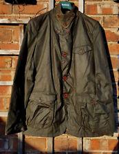 BNWT Genuine Barbour Beacon Commander Olive Green Wax Sport Jacket (L: EU 52-54)