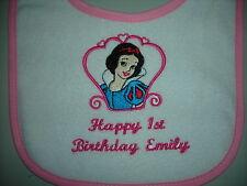 happy 1st  birthday disney princess   snow white  bibs