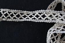 Vintage 1930'S Cotton Fine Lace Trim 2 1/2 Yds X 3 In.