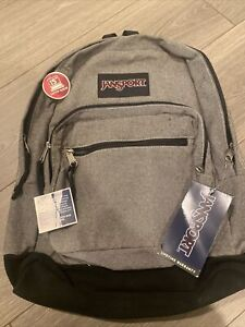 """JANSPORT RIGHT PACK EXPRESSIONS Backpack  Grey 1,900 cubic inches 15"""" laptop"""