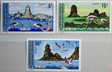 Afars and ISSAS 1974 98-100 370 -72 Flamants Roses Lake ABBE lac Birds Oiseaux Faune Neuf sans charnière