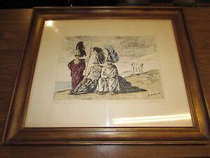 Giorgio De Chirico litografia originale 47 x 35 bellissima