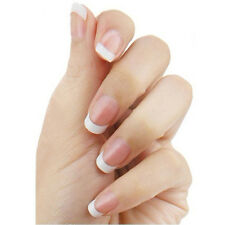 500Pcs Beauty French Style White Small Fake False Fingernails Patch Nail Art-Tip