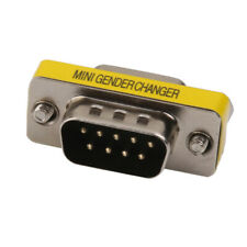 DB9 9 Pin male Serial (RS-232) M/F Gender Adapter Changer Converter Plug