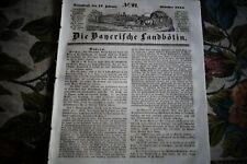 1844 Landbötin 21 / Nürnberg Brand Vogelsgarten/ München Tierschutzverein