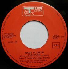 "John Entwistle's Rigor Mortis Made In Japan  7"", Promo Track Record - TR 9203..."