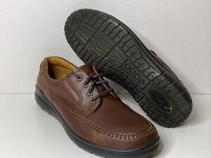 Ecco Mens Comfort Seawalker Tie Oxford Shoes Size 46 / 12-12.5 Brown Leather