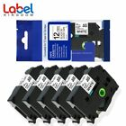 5PK P-Touch TZe-231 PT-D210 Label Tape Compatible Brother Black on White 12mm..