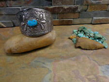 Barrette Ponytail Native Old Pawn Harvey Omg! #1 Navajo Sterling Turquoise Hair