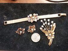 Antique Victorian B & O 12K G.f. Baum & Oppenheim Signed bracelt/brooch earrings