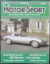 Revista Motor Sport -Vol LXII-No.04-The Teesdale Publishing-1986-London,April