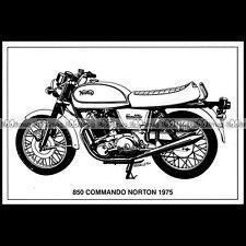 #CP115 NORTON 850 COMMANDO (1975) - Carte Postale Moto Motorcycle Postcard