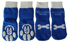 SMALL Power Paws Reinforced Non Slip Dog Socks - Blue Regular