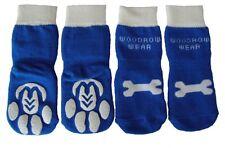 Power Paws Reinforced Non Slip Dog Socks - Blue Regular, Sizes XSmall-XXLarge