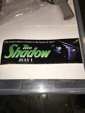 1994 The Shadow Movie Promo Bumper Sticker Universal Studios What Evil Lurks